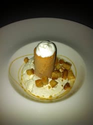 Horlicks, Honey & Whisky dessert by Marcus Waring at The Berkley