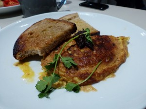 Sugar cured New Caledonian Prawn Omelette at the Modern Pantry