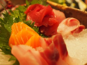 Close of up sashimi at Zuma London