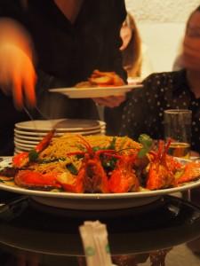 Lobster Noodles being served at Mandarin Kitchen