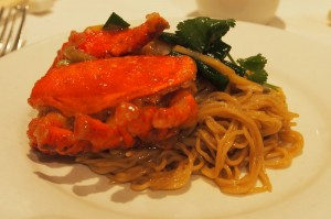 Plate of Lobster Noodles at Mandarin Kitchen