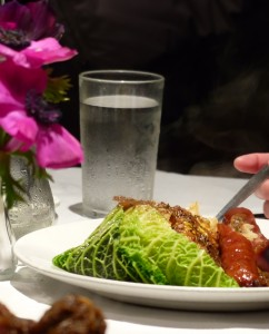 Sausages with Savoy Cabbage at Andrew Edmunds