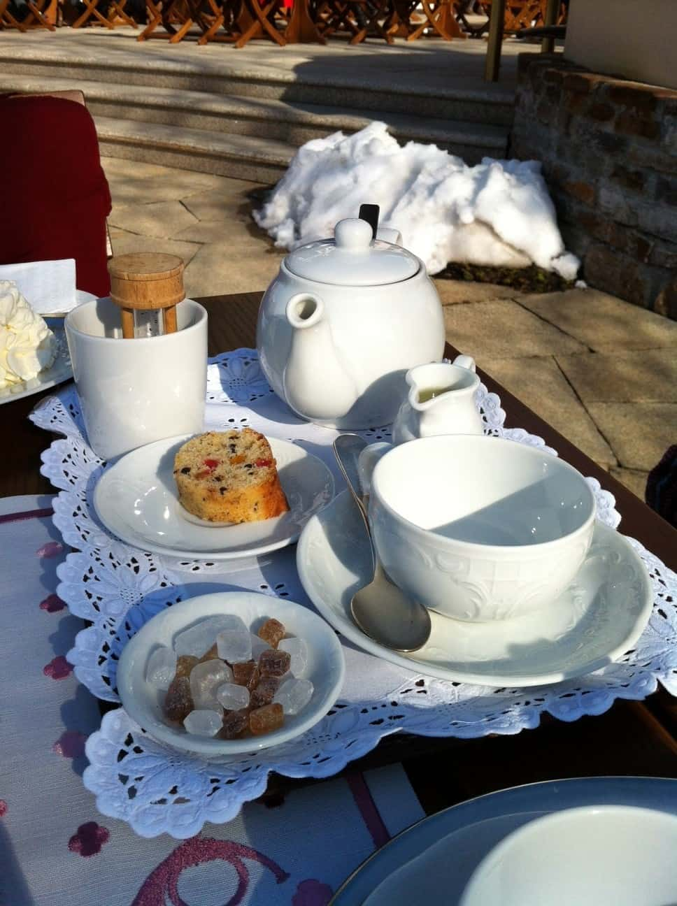 Tea service at Gasthof Post, Lech, Austria