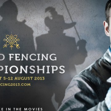official poster for world fencing championships 2013