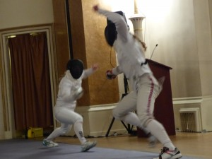 Epee match, Cohen v Revesz at Landsdowne Club | Yvanne Teo