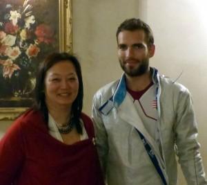 Yvanne Teo with Aron Szilagyi at Landsdowne Club