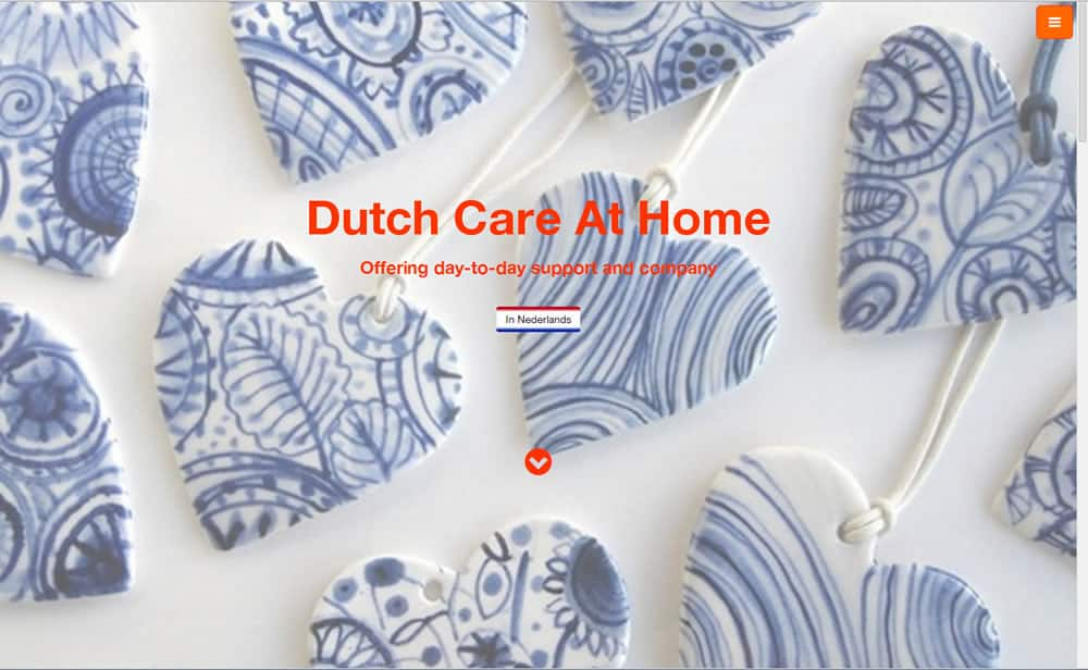 DutchCareAtHome website