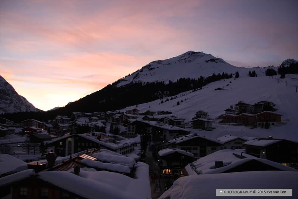 Sunset in Lech Austria | ytPhotography | Yvanne Teo