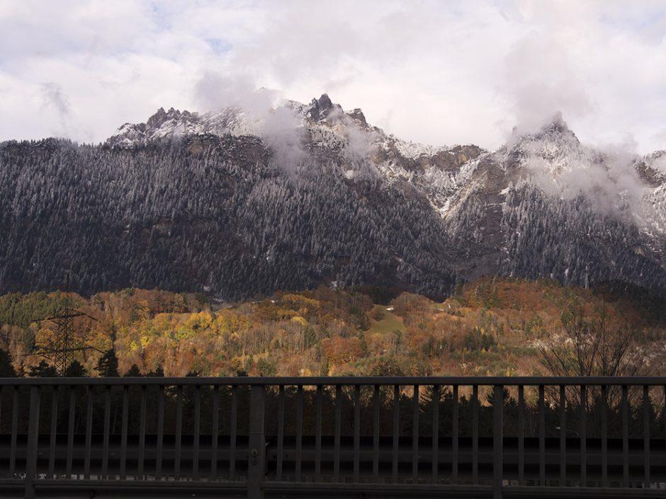 View to mountain range of Bludez-Braz, Vorarlberg, Austria | Yvanne Teo