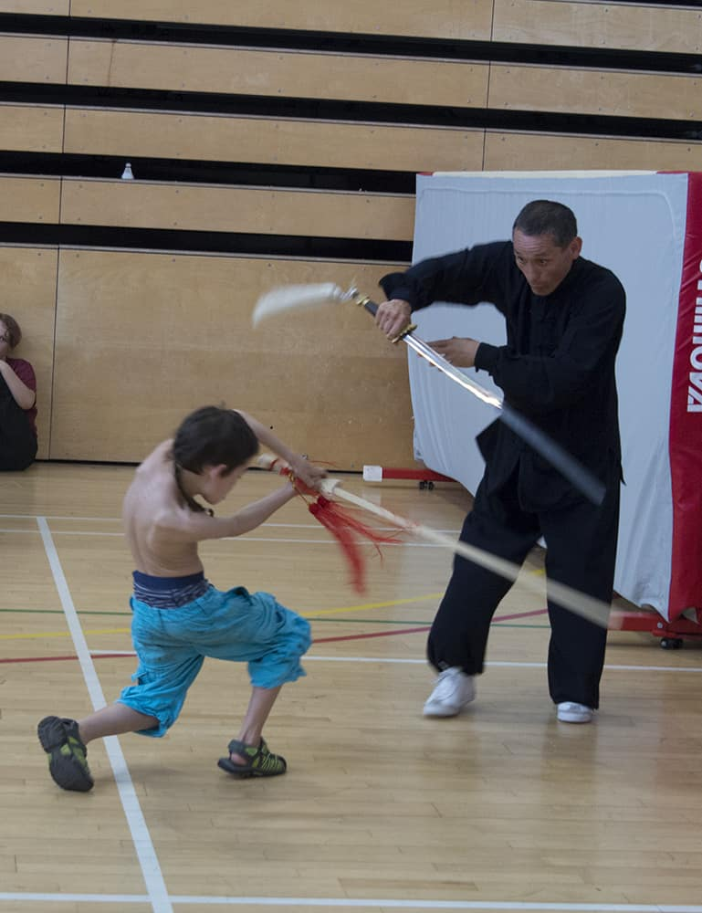 Father & Son narrow sword duel | Yvanne Teo